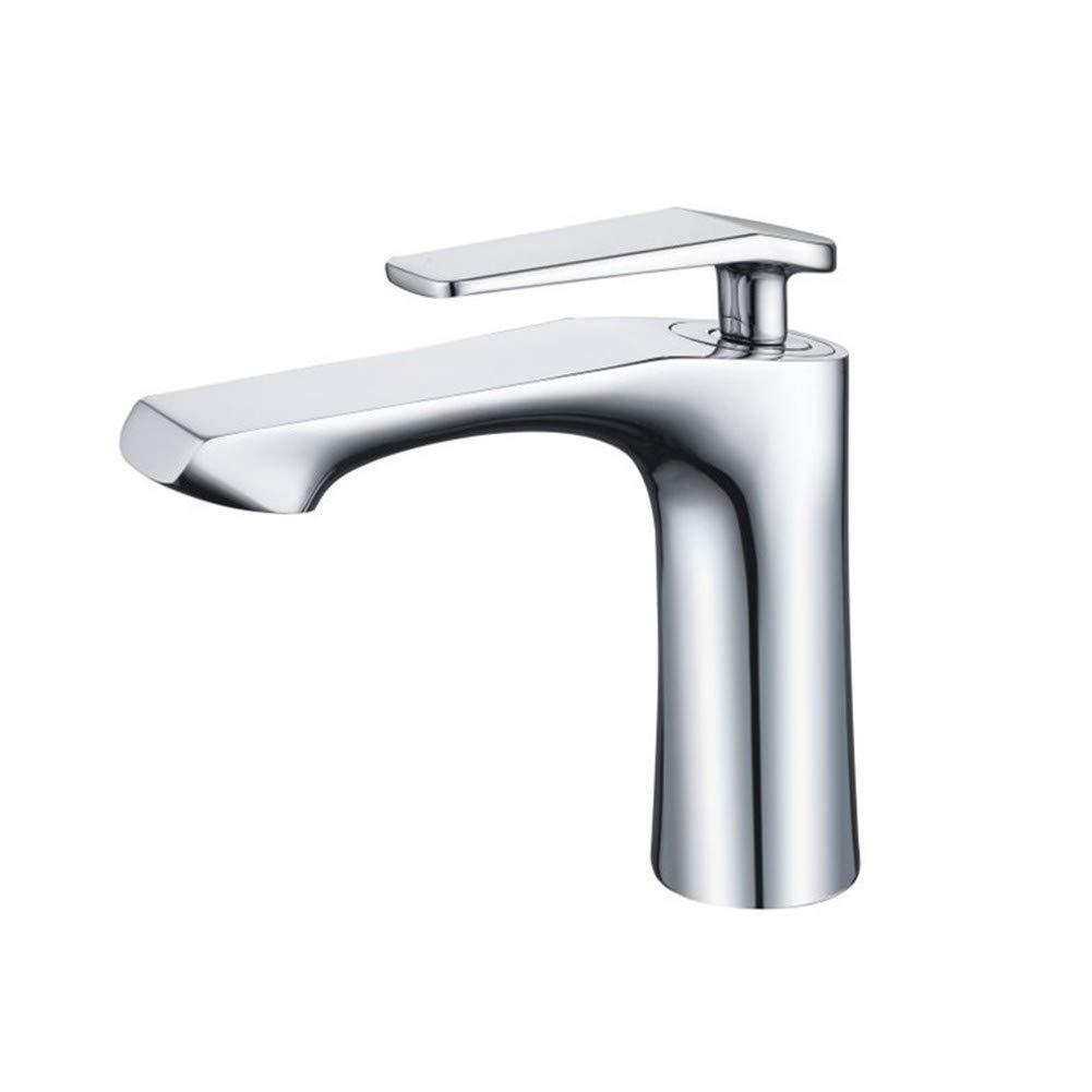 Chrome Brass Fitting Single Lever Faucet, Luxury Bathroom Faucet Modern Luxury Bathroom Brass Chrome Faucet