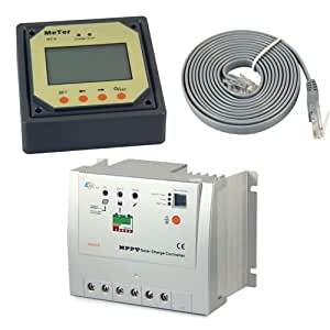 EPsolar Tracer 2210RN MPPT Solar Battery Charge Controller 20A+Remote Meter MT5