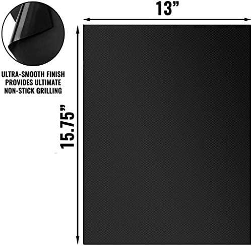 Anjing BBQ Grill Mat Jeu de 6 antiadhésifs BBQ Grill Mat réutilisable Résistance à la Chaleur Nettoyage Facile Cuisine Barbecue Tapis 15,75 * 13 Pouces