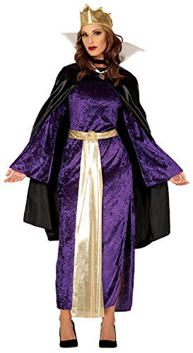 Ladies Evil Queen Fairy Tale Story TV Book Film Halloween Fancy Dress Costume Outfit (UK 14-16) ()