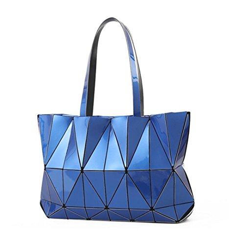 Women Designer Folding Bags Women Shoulder Blue Bags Geometric Handbags Blue Baobao BxZS0w0f