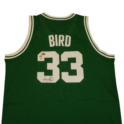 Larry Bird Autographed Boston Celtics (Green #33) Adidas Hardwood Classics Swingman Jersey - Bird Holo