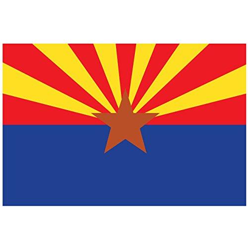- Arizona State Flag Bumper Sticker Decal 5