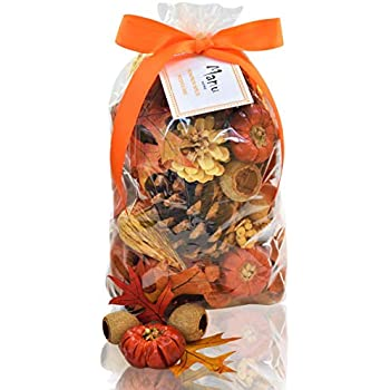 Manu Home Pumpkin Spice Potpourri Bag-12 oz Botanicals ~ Made with All Essential Oils, Plant Materials and Beautiful Fall Colors~ Made in USA