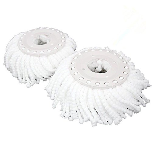 [4 ^^ ^ Lot Of 4 Replacement Microfibric Mop Head Refill 4 Hurricane Magic Mop 360° Spin // Both For Dry And Wet] (Mounted Animal Head Costume)