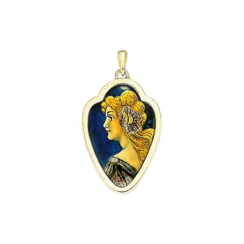 Amazon souvenirs of france art nouveau style pendant with amazon souvenirs of france art nouveau style pendant with enamel of limoges material solid silver pendant necklaces jewelry aloadofball Image collections
