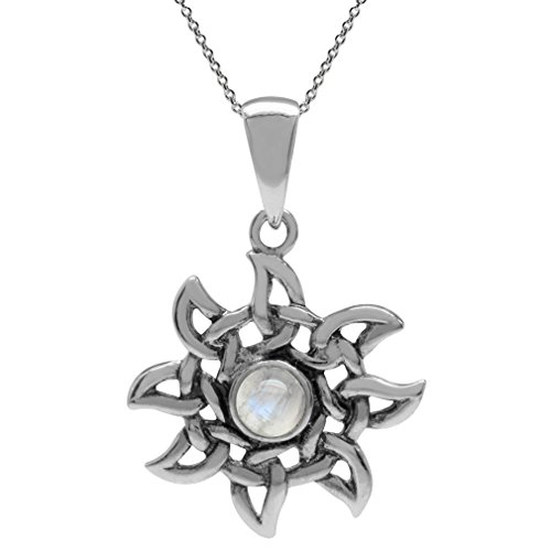 natural-moonstone-925-sterling-silver-celtic-knot-sun-ray-inspired-pendant-w-18-inch-chain-necklace