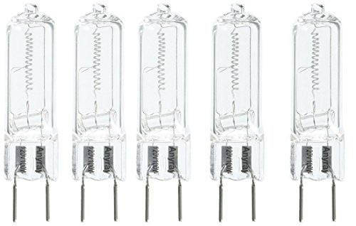Anyray A1710Y (5)-Pack G8 100W 100-Watt 130 volt Halogen T4 Light GY8.6 bulbs 100Watt 5-Lamps (130v G8 Halogen Bulb)
