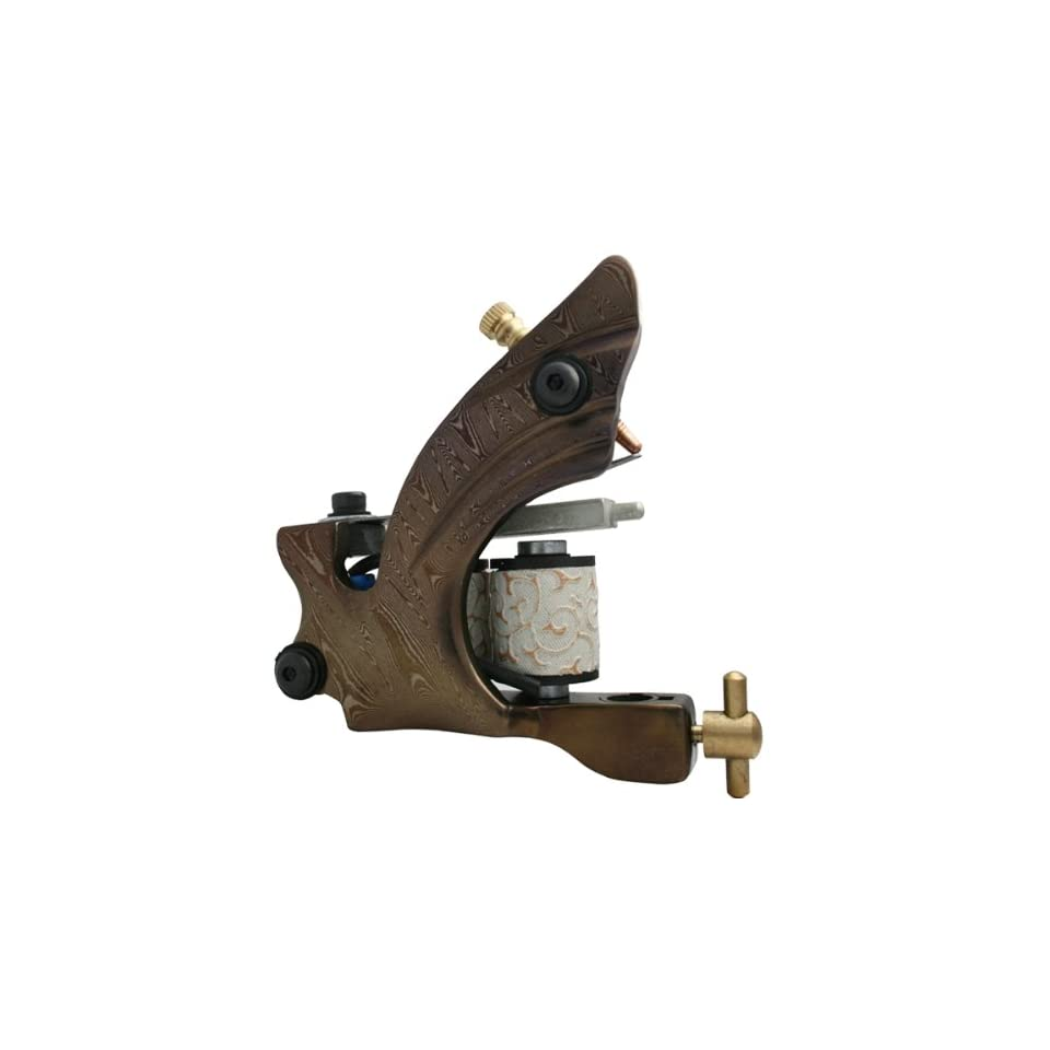 Hot Silent Damascus Steel Tattoo Machine Liner Gun kit e010730