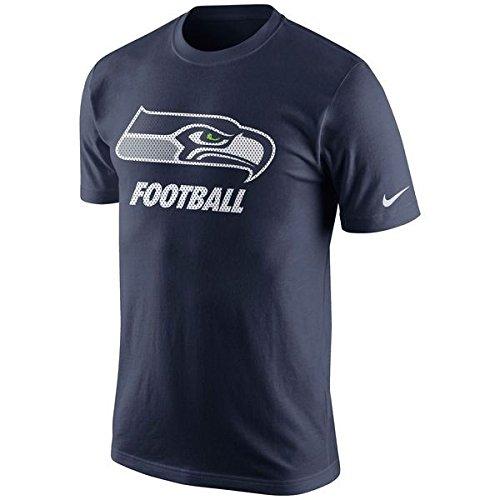 Nike Men's Seattle Seahawks Short-Sleeve Facility Tee College Navy Size - Sleeve Short Tee Nike Football