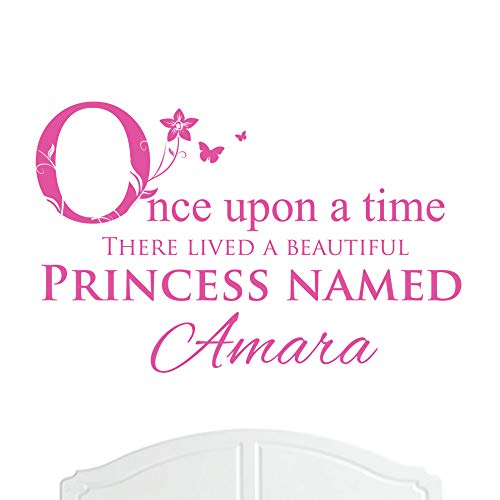 - A Beautiful Princess Named Amara Large Once Upon a Time Wall Sticker / Decal Bed Room Art Girl / Baby