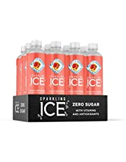 Sparkling Ice, Peach Nectarine Sparkling Water, with Antioxidants and Vitamins, Zero Sugar, 17 fl oz Bottles (Pack of 12)