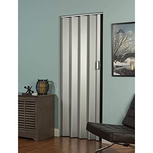 LTL Home Products EL3696S Elite Interior Accordion Folding Door, 36 x 96 Inches, Satin Silver
