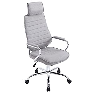 Chaise De Bureau Rako en Tissu I Réglable en Hauteur Pivotante I Fauteuil De Bureau avec Accoudoirs Et roulettes I…