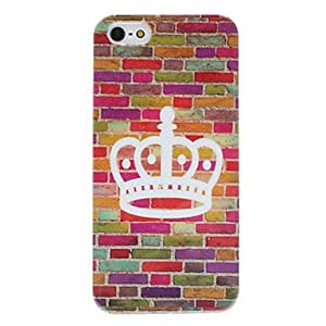 Crown Pattern Hard Case for iPhone 5/5S