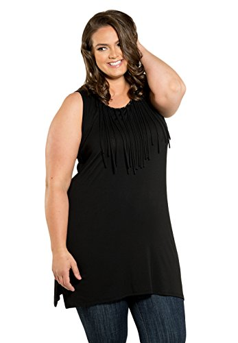 Sealed with a Kiss Designs Plus Size Tops - Tammy Tunic 5X Black