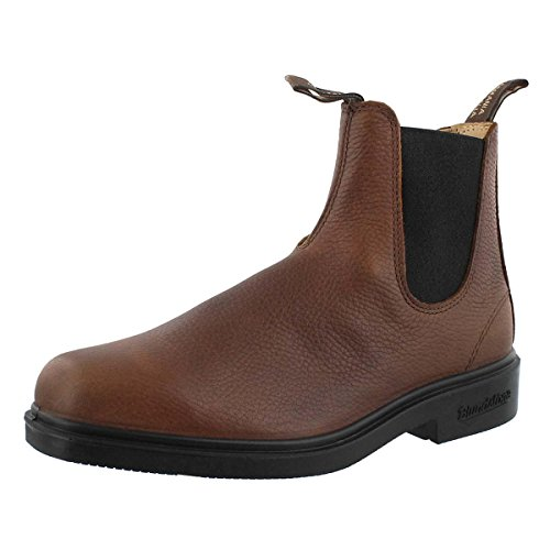 Blundstone Men's Dress Series Elastic Sided V-Cut - Grizzly Brown - (Blundstone Dress Boot)