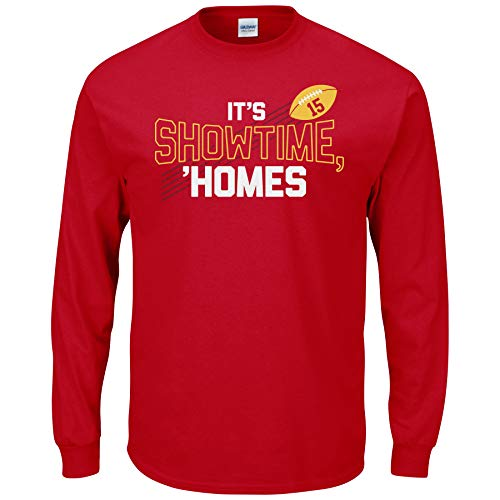 - Nalie Sports Kansas City Football Fans. It's Show Time Homes Red T-Shirt (Sm-5X) (Long Sleeve, X-Large)