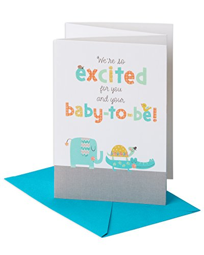 - American Greetings Happy Shower Baby Shower Congratulations Greeting Card with Glitter