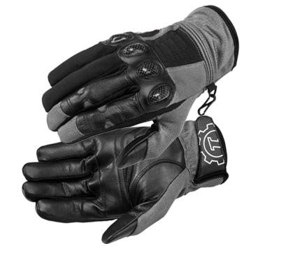 FirstGear Mesh Tex Men's Vented Textile/Leather Street Motorcycle Gloves - Dark Grey/Black / 2X-Large