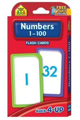 Numbers 1-100 Flash Cards by School Zone Publishing Company Staff Flash Cards Edition (1/1/2010)