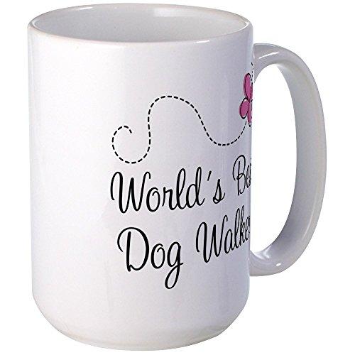 (CafePress Dog Walker (World's Best) Mugs Coffee Mug, Large 15 oz. White Coffee Cup)