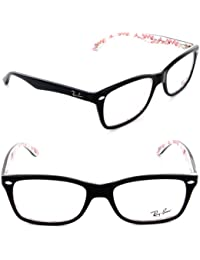 ray ban eyeglasses rx 5228 5014 top black on texture frame size 50mm