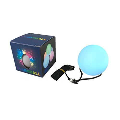 Illuminet ILLUMIBALL LED Glow Ball: LED POI Ball, POI Balls, LED Ball Light, Light Up Ball, Rave Light, Spinner Ball, Glow Ball, Stress Ball, Parties, Beach, Dances, Camping Fun