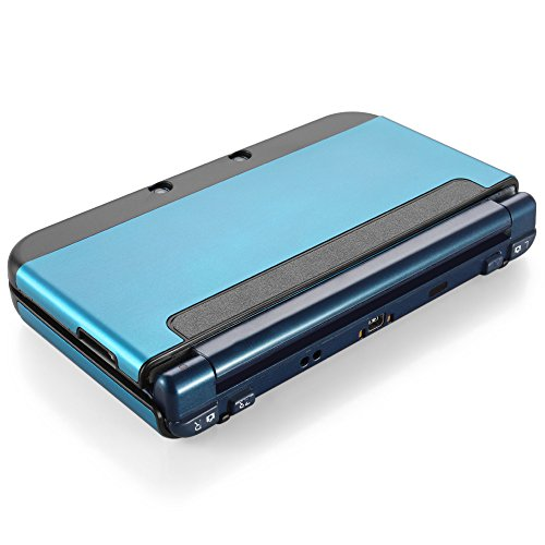 TNP New 3DS XL Case (Light Blue) - Plastic + Aluminium Full Body Protective Snap-on Hard Shell Skin Case Cover for New Nintendo 3DS LL XL 2015