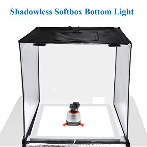PULUZ Photo Studio Fill Light LED Shadowless Light Panel 15in X 15in / 38 x 38 cm Dimmable Photography Softbox Bottom Light for Food Jewelry Cosmetic Crafts US Plug by PULUZ (Image #2)