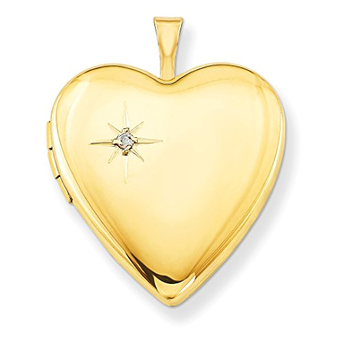 ICE CARATS 1/20 Gold Filled 20mm Diamond Heart Photo Pendant Charm Locket Chain Necklace That Holds Pictures W/chain Fashion Jewelry Ideal Mothers Day Gifts For Mom Women Gift Set From Heart by ICE CARATS