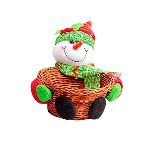 Hot Sale !☀ Christmas ☀ Storage Basket,Beautyvan Charming Christmas Candy Storage Basket Decoration Santa Claus Storage Basket Gift (100 Floors Halloween 13)