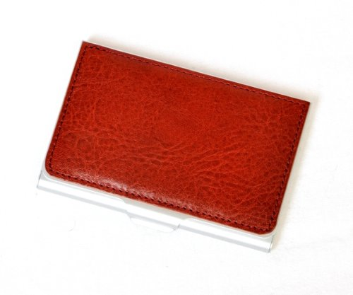 Tony Perotti Italian Bull Leather Ultimo Business and Credit Card Case, Red by Tony Perotti (Image #2)