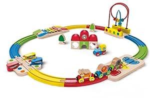 Hape - Circuito de Tren Musical encajable pasabolas (Barrutoys E3816)