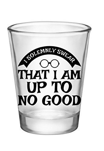 Harry Potter Shot Glass-I Solemnly Swear-Cool Shot Glass-Shot Glasses Funny Sayings