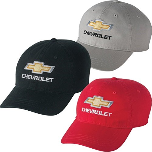 - Chevrolet Gold Bowtie Garment Washed Unstructured Hat (Black)