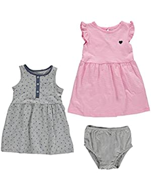 Carters Girls NB-24 Months 2-Pack Printed Dress Set