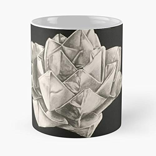 Yoga Lotus Flower Origami Funny Christmas Day Mug Gifts Ideas For Mom - Great Ceramic Coffee Tea Cup