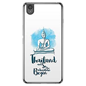 Loud Universe Oneplus X Desitinations Thailand and So The Adventure Begin Printed Transparent Edge Case - White