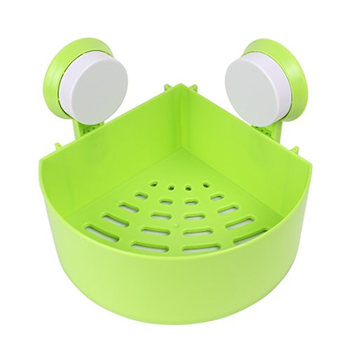 UPC 712662509967, uxcell Bathroom Wall Corner Suction Cup Triangle Storage Shelves Rack Green