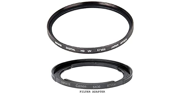 Lens Tube Adapter 67mm for Canon PowerShot SX520 HS SX60 HS SX50 HS SX40 HS SX30 IS SX20 IS SX10 IS SX1 IS