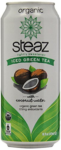 Coconut Strawberry Tea (Steaz Organic Iced Green Tea, Cocount Water, 16 Ounce (Pack of 12))