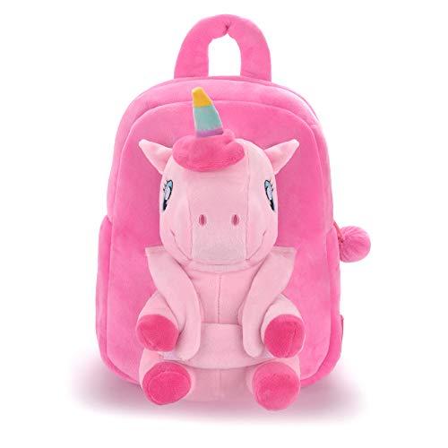 Gloveleya Kindergarten kids Backpack - Plush Baby Backpack With Detachable Unicorn Toy 9