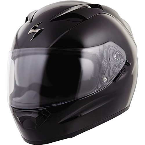 Scorpion EXO Unisex Adult EXO-T1200 Gloss Black Full Face Helmet T12-0036