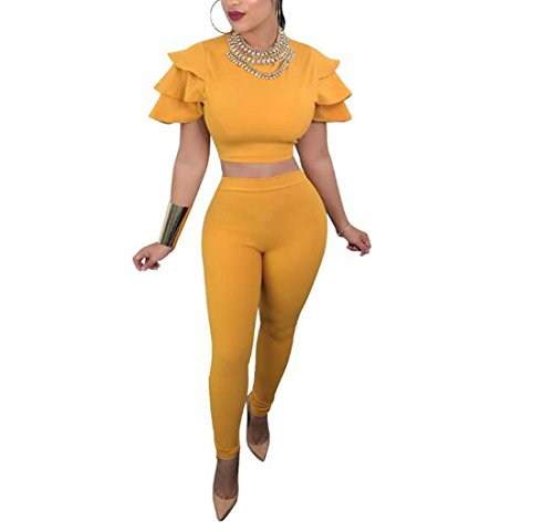 2018 NewWomens Fly Manches Costume Jaune Noir XIAOXAIO (Couleur : Jaune, Taille : L)
