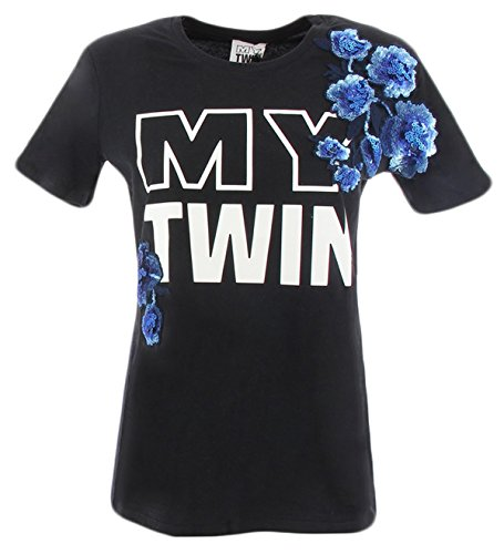 Twinset My Shirt T twin Twin Paillettes My Twin YS82D9NERO set Donna con nFxq4Z5vw