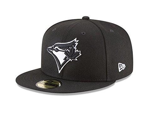 New Era 59Fifty Hat MLB Basic Toronto Blue Jays Black White Fitted Baseball  Cap . 720be4f75ddb