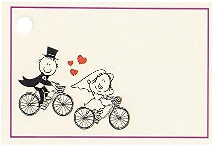 Tarjetas personalizadas novios en bicicleta: Amazon.es: Hogar