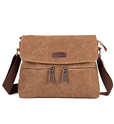 Degohome Canvas Satchel Bag Shoulder Bag Crossbody Sling Bag for Men and Women