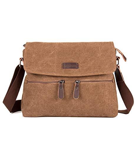 Men Canvas Bag Bag Satchel Sling for Women Crossbody Degohome and Bag Coffee Shoulder zaqfSd